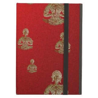 buddha in red iPad air covers