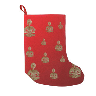 buddha in red small christmas stocking