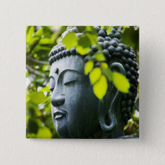 Buddha in Senso-ji Temple Garden 15 Cm Square Badge