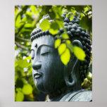 Buddha in Senso-ji Temple Garden Poster