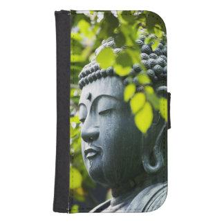 Buddha in Senso-ji Temple Garden Samsung S4 Wallet Case