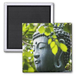 Buddha in Senso-ji Temple Garden Square Magnet