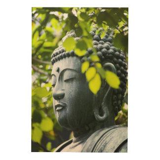 Buddha in Senso-ji Temple Garden Wood Print