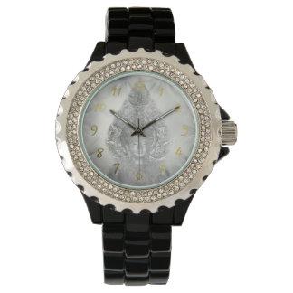 buddha in silver watch