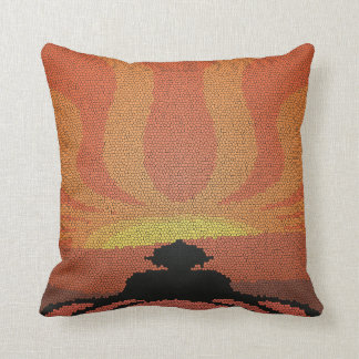 Buddha in Stained Glass Throw Pillow