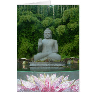 Buddha in the Bamboo Forest Card