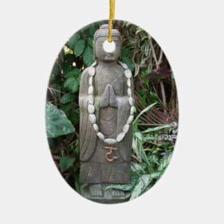 Buddha in the Garden Christmas Ornament