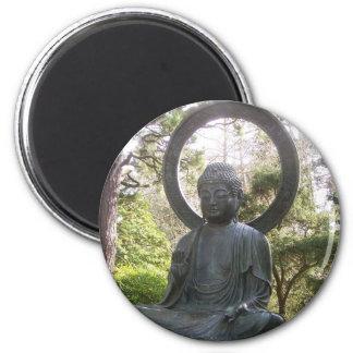 Buddha in the Japanese Tea Garden 6 Cm Round Magnet