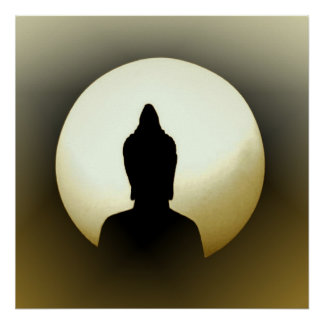 Buddha in the moon poster