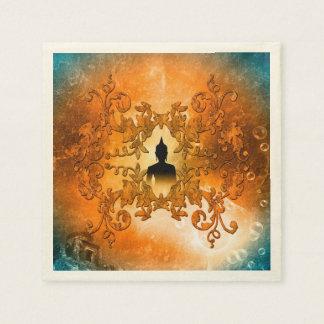Buddha in the sunset paper napkin