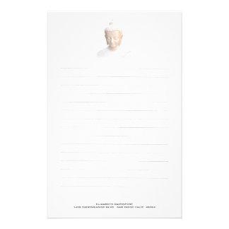 Buddha In White | Serene Meditative And Calm Personalised Stationery
