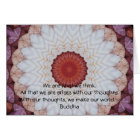 Buddha inspirational QUOTE Card