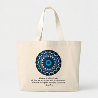 Buddha inspirational QUOTE Large Tote Bag