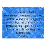 Buddha inspirational QUOTE  life's journey faith Post Cards