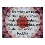 Buddha inspirational QUOTE Postcard