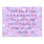 Buddha Kind Words Quote Postcard