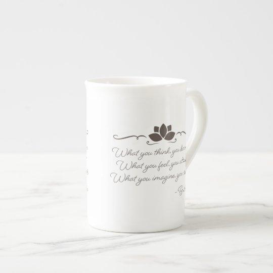 Buddha Law of Attraction Bone China Coffee Mug