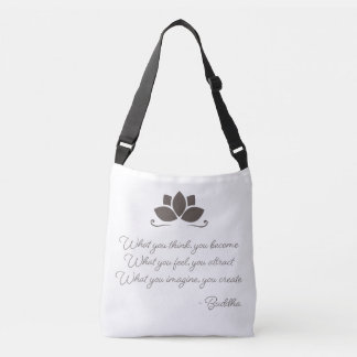 Buddha Law of Attraction Cross-Body Tote Bag