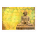 buddha light (yellow) postkarten