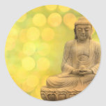 buddha light (yellow) runder sticker