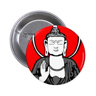 Buddha Logo 6 Cm Round Badge