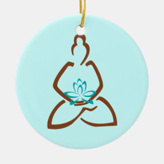 Buddha Lotus Henna Christmas Ornament