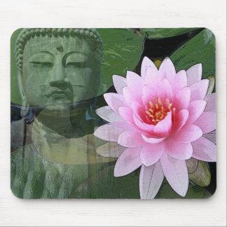 buddha lotus mouse pad