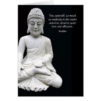 Buddha Love Affection Greeting Card