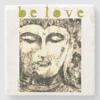 Buddha Love Watercolor Art Stone Coaster