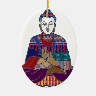 BUDDHA Mahatma Buddhism Kind peace LOVE LIGHT Ceramic Oval Decoration
