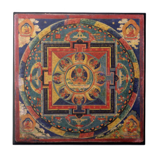 Buddha Mandala Antique Tibetan Thanka Tile