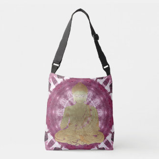 Buddha Mandala applied (rose) Crossbody Bag
