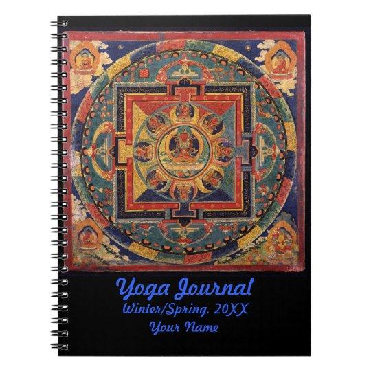 Buddha Mandala Yoga Journal Personalised Note Book