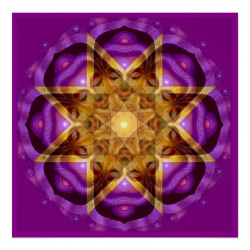 Buddha Mandala Zen Meditation Spiritual Art Poster