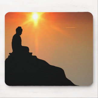 Buddha Meditating Mouse Mat