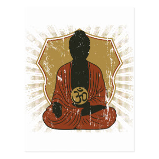 Buddha Meditating Om Symbol Postcard