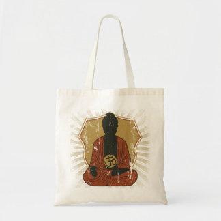 Buddha Meditating Om Symbol Tote Bag