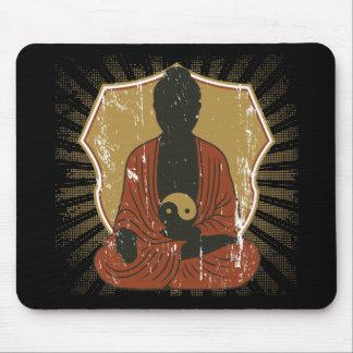 Buddha Meditating Yin Yang Mouse Pad