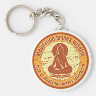 Buddha Meditation Wisdom Key Ring