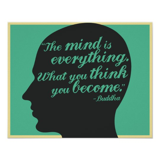 Buddha Mind and thought quote poster