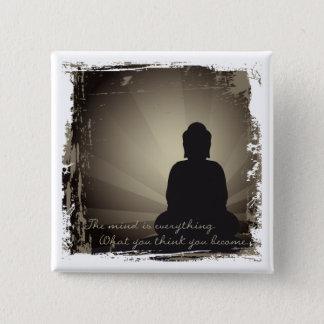 Buddha Mind Is Everything 15 Cm Square Badge