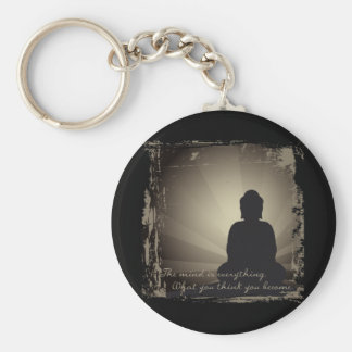 Buddha Mind Is Everything Basic Round Button Key Ring