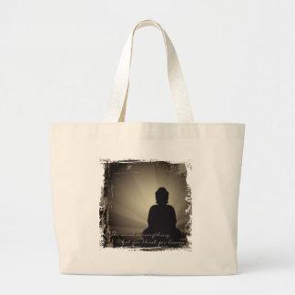 Buddha Mind Is Everything Large Tote Bag