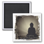 Buddha Mind Is Everything Square Magnet