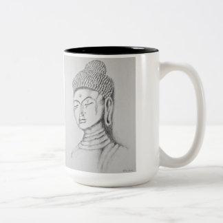 Buddha/Namaste Two-tone Mug