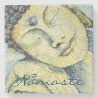 Buddha Namaste Watercolor Art Design Stone Coaster