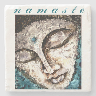 Buddha Namaste Watercolor Art Stone Coaster