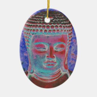 Buddha of the Painted Kaleidoscope Ceramic Oval Decoration