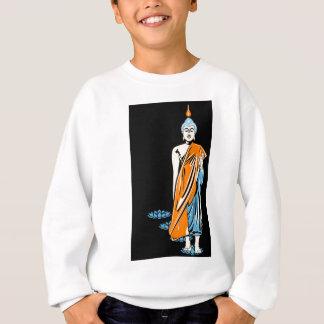 Buddha on black background sweatshirt