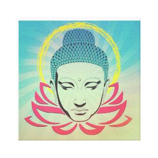 Buddha on Lotus Canvas Print